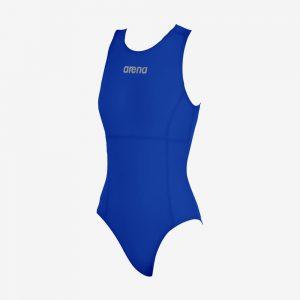 Afbeelding Arena waterpolobadpak voorkant blauw