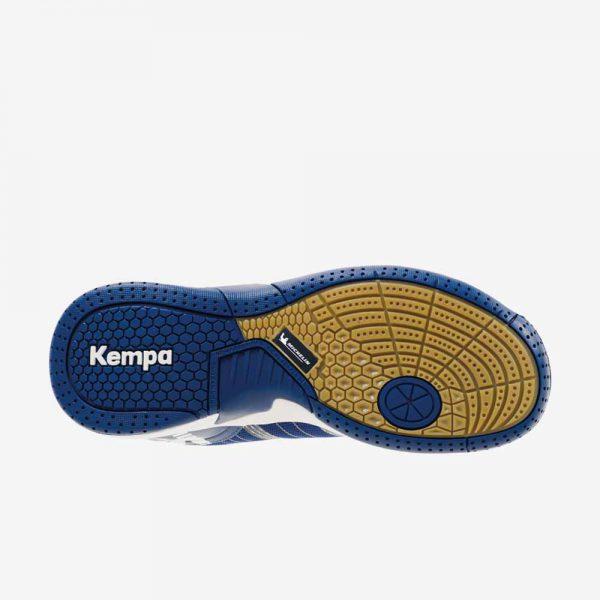 Afbeelding Kempa attack three contender junior handbalschoenen veters onderkant blauw wit