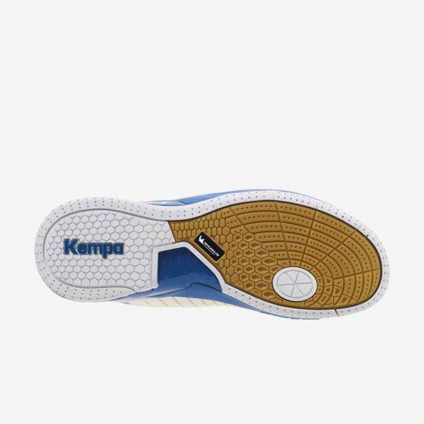 Afbeelding kempa attack two handbalschoenen onderkant wit blauw