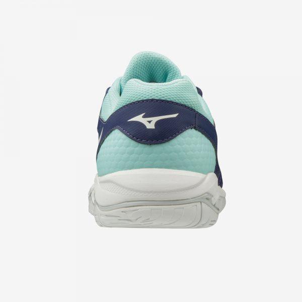 Afbeelding Mizuno Wave Phantom 2 hak handbalschoen dames blauw