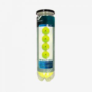 Afbeelding Rucanor teniisballen 4 stuks geel