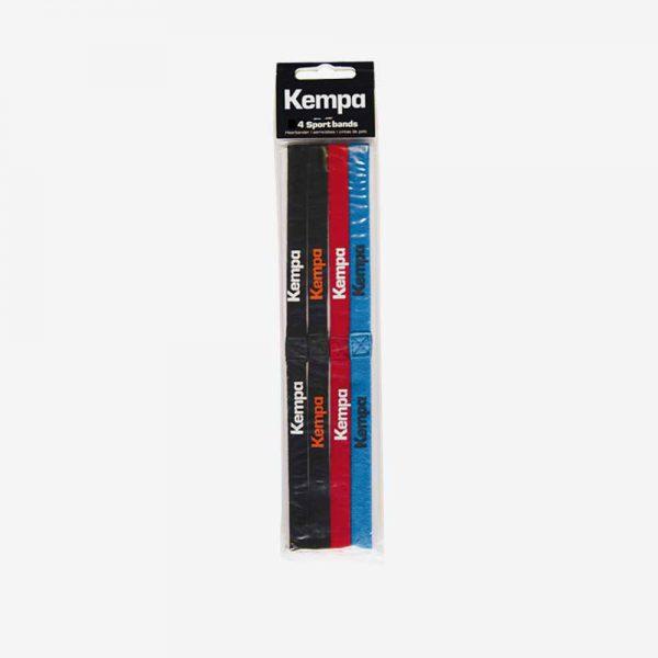 Afbeelding Kempa haarbanden vier stuks zwart rood en blauw
