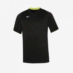 Afbeelding Mizuno Men core SS sportshirt heren zwart-geel