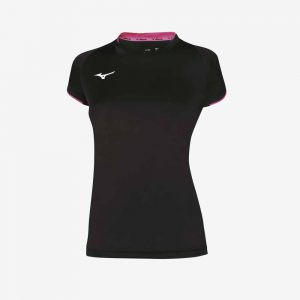 Afbeelding Mizuno Women core SS sportshirt dames zwart-roze