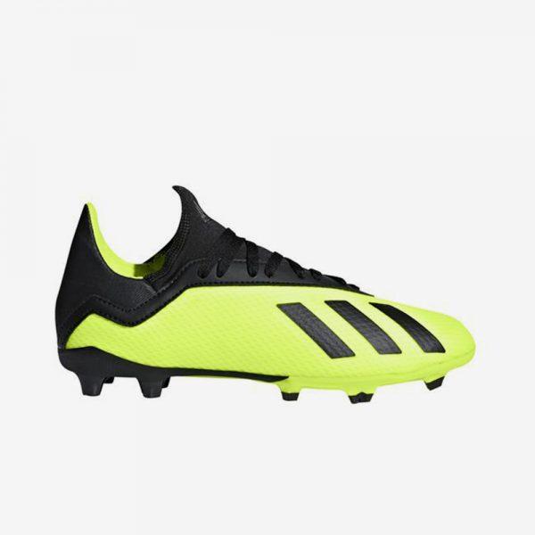 Afbeelding Adidas X 18.3 FG junior voetbalschoenen geel zwart