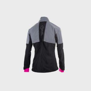 Afbeelding Rogelli Reflex hardloopjack dames zwart grijs roze