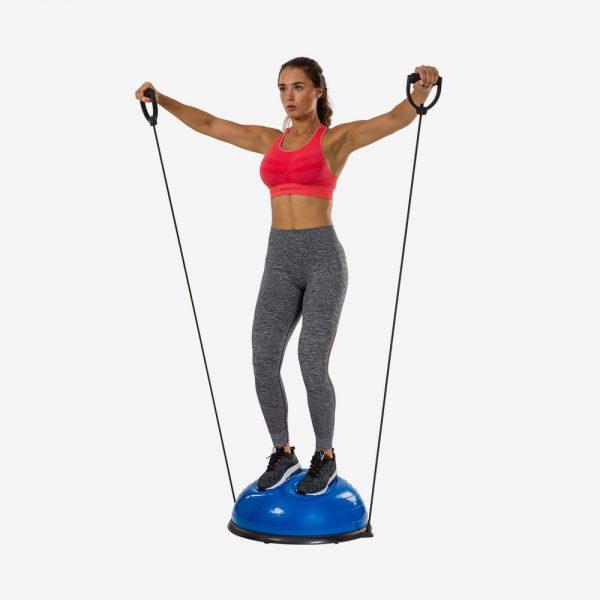 Afbeelding Tunturi Blance trainer inclusief tubings blauw met dame