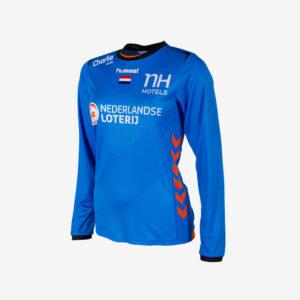 Afbeelding Hummel WK 2019 keepersshirt Nederlandse handbaldames lange mouw blauw