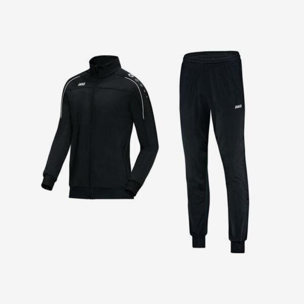 Afbeelding Jako trainingsjas zwart en trainingsbroek zwart Witteveenseboys voorkant