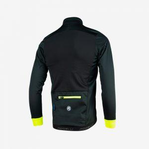 Afbeelding Rogelli Winterjacket Pesaro 2.0 zwart geel achterkant