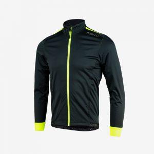 Afbeelding Rogelli Winterjacket Pesaro 2.0 zwart geel voorkant