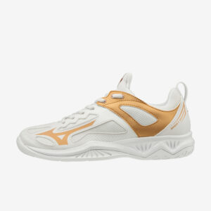 Afbeelding Mizuno Ghost Shadow dames wit goud