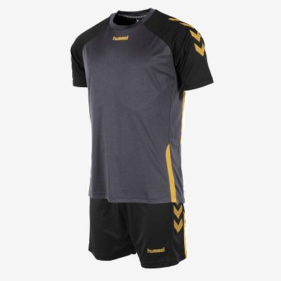 Afbeelding Hummel Authentic Special set sportshirt en sportbroek zwart goud