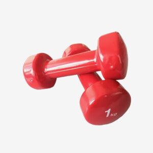 Afbeelding Sportec dumbell set van 2 rood