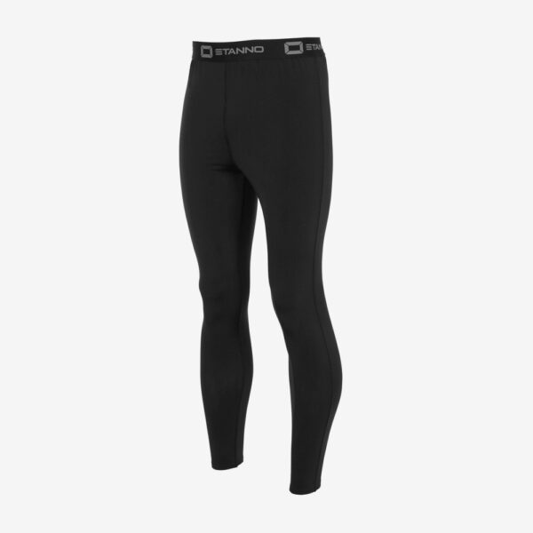 Afbeelding Stanno thermo pant lang model thermolegging zwart voorkant