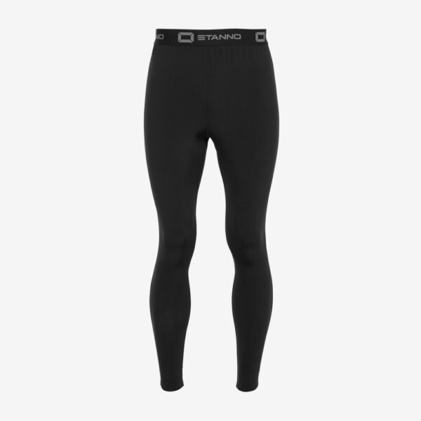 Afbeelding Stanno thermo pant lang model thermolegging zwart achterkant