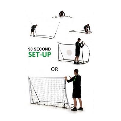 Afbeelding voetbaldoel en rebounder opzetinstructie
