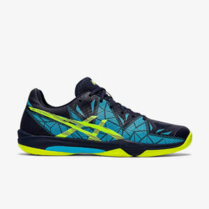 fbeelding Asics Gel-Fastball 3 handbalschoenen heren blauw geel