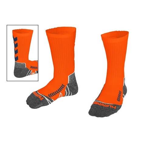 Afbeelding Hummel chevron sock sokken oranjeblauw