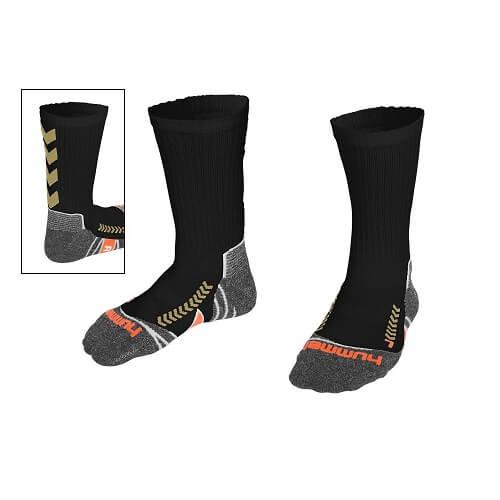 Afbeelding Hummel chevron sock sokken zwartgoud