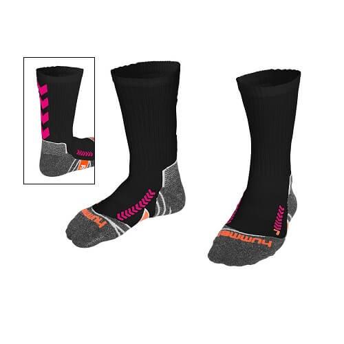 Afbeelding Hummel chevron sock sokken zwartroze