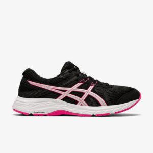 Afbeelding Asics Gel Contend 6 hardloopschoenen dames zwart roze