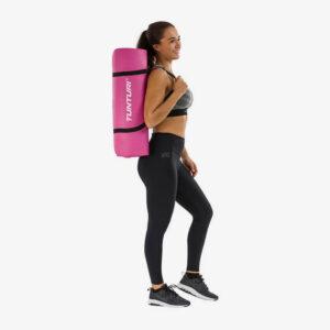 Afbeelding Tunturi Fitnessmat Yogamat met draagkoord roze