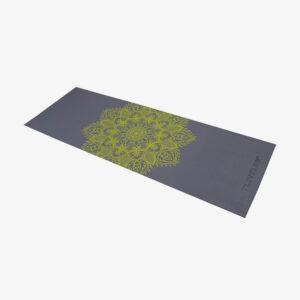 Afbeelding Tunturi Fitnessmat Yogamat met draagkoord antraciet met print