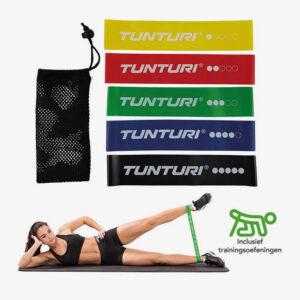 Afbeelding Tunturi Weerstandsbanden Set Fitness elastiek 5 stuks 5 kleuren