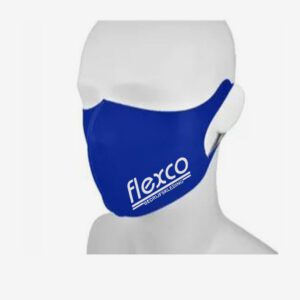 Araco gezichtsmasker scuba mondkapje bedrukt kobaltblauw