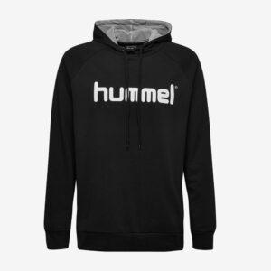 Afbeelding Hummel Go Cotton logo hoodie uni zwart