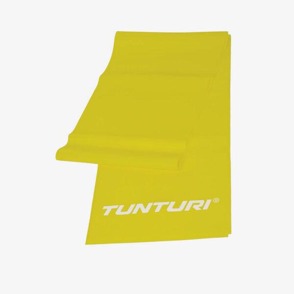 Afbeelding Tunturi weerstandband fitness elastiek licht weerstand geel