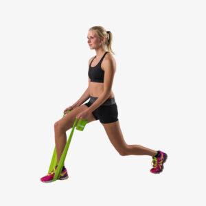 Afbeelding Tunturi weerstandband fitness elastiek medium weerstand groen