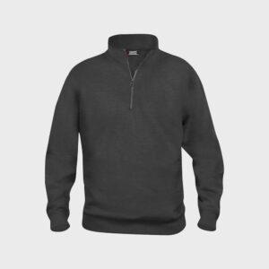 Afbeelding sweater korte rits antraciet