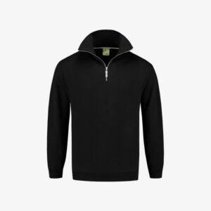 Afbeelding sweater korte rits zwart