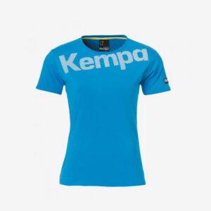 Afbeelding Kempa Core cotton logo t-shirt dames sportshirt blauw