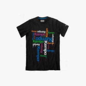 Abeelding Kempa Floats t-shirt zwart met kempa opdruk