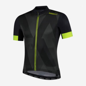 Afbeelding Rogelli Brisk fietsshirt wielershirt grijs/geel