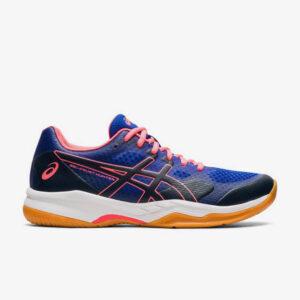 Afbeelding Asics Gel court hunter 2 indoorschoenen dames blauw/roze