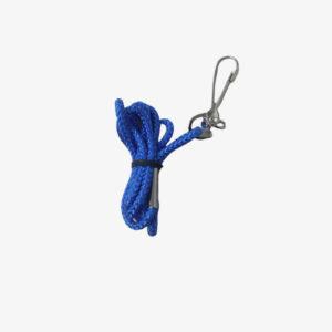 Afbeelding Rucanor lanyard nylon koord met haakje blauw