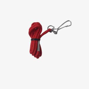 Afbeelding Rucanor lanyard nylon koord met haakje rood